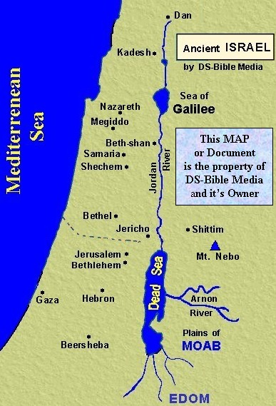 Bible History - Map of old testament israel